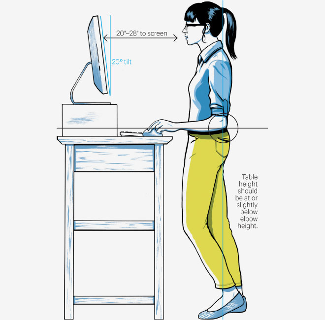 Charming Standing Desk Photo