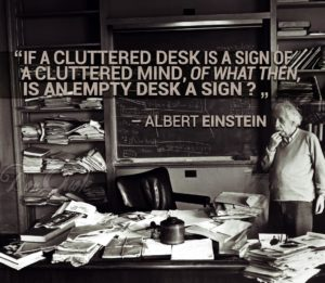 cluttered desk quote