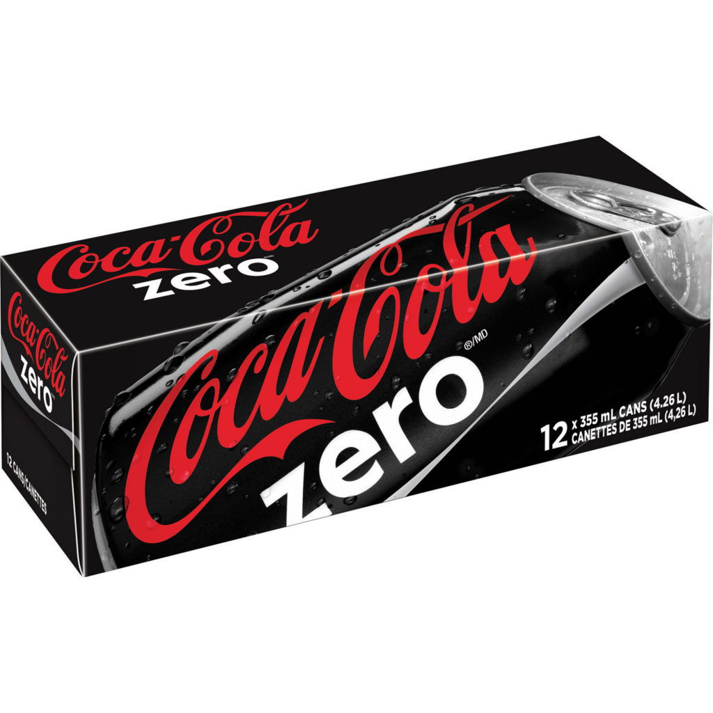 Coke Zero 355 mL 12/cse