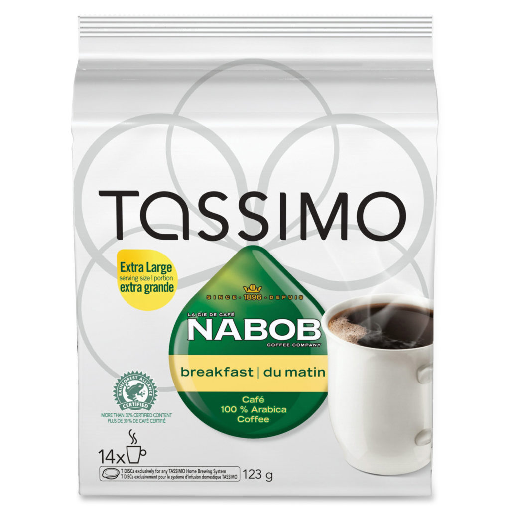 NABOB Tassimo Pods Breakfast Coffee Singles Pod