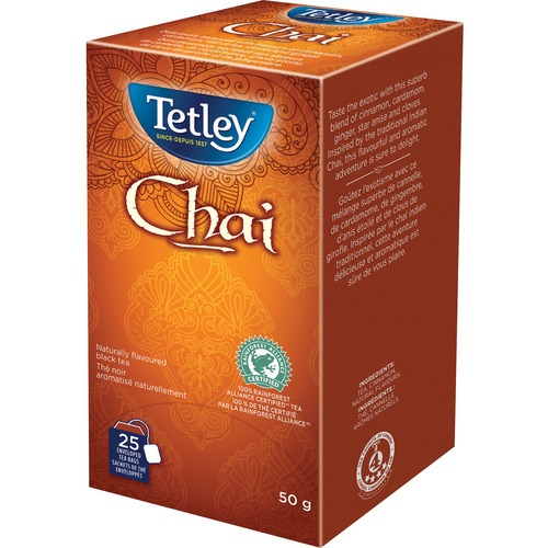 Tetley 100% Rainforest Alliance Certified Chai Tea